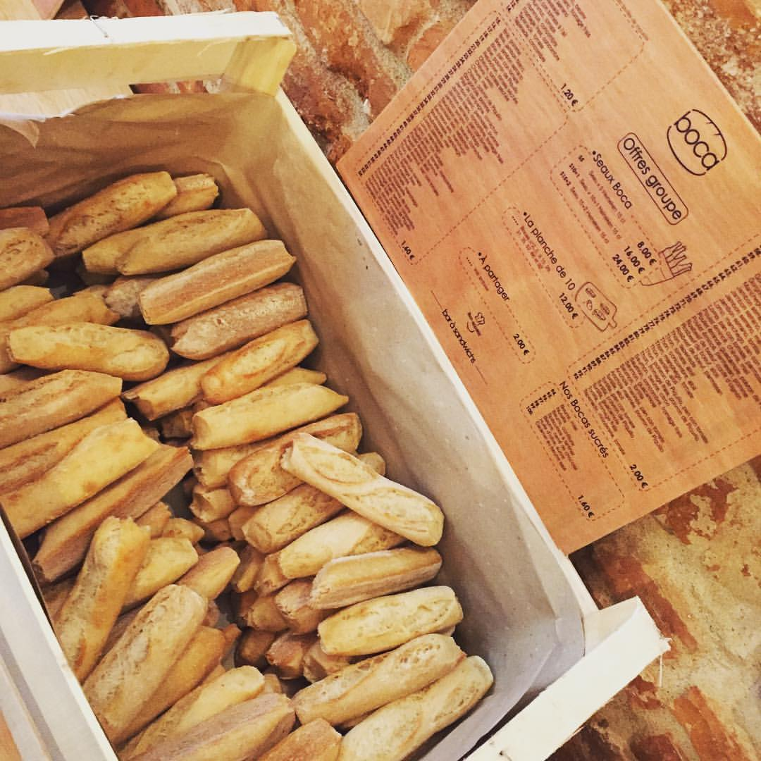Nos pains pour confectionner nos mini sandwichs version tapas espagnol